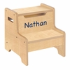 Natural Personalized Step Stool