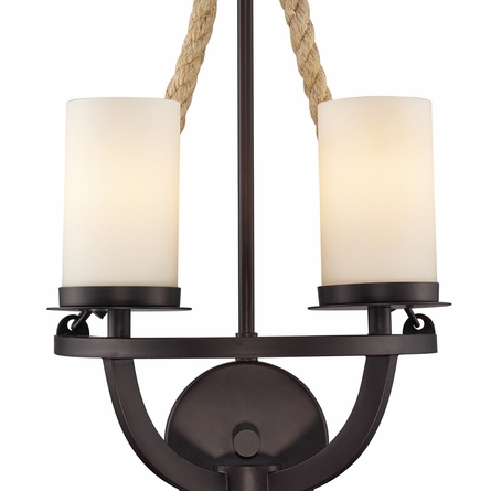 Natural Rope Sconce In Aged Bronze