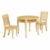 Natural Windsor Round Table with 2 Chairs Set