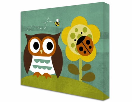 Nature Lovin' Owl Canvas Reproduction