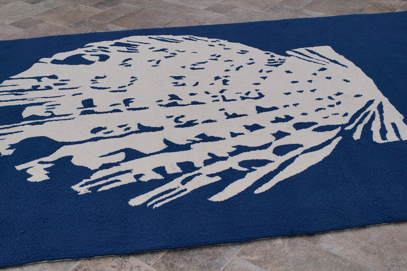 Nautical Seashell Indoor Outdoor Rug RosenberryRooms