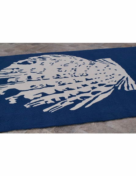 Nautical Seashell Indoor/Outdoor Rug