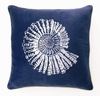 Nautilus Velvet Embroidered Pillow