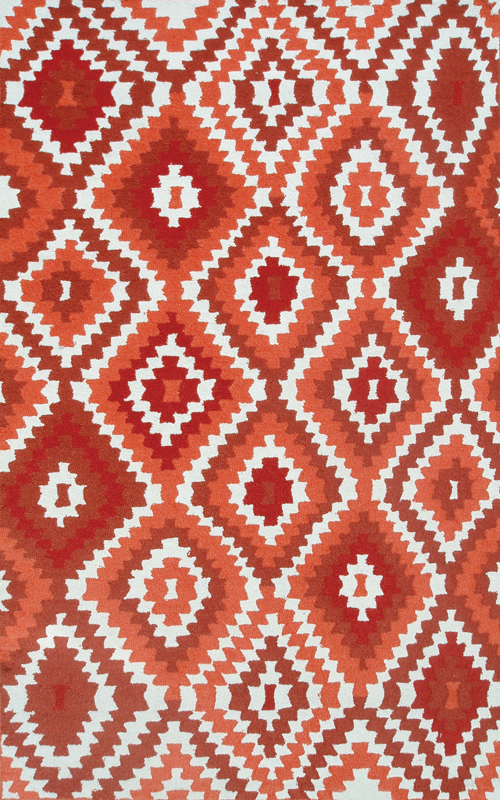 Navajo Red Outdoor Rug by The Rug Market RosenberryRooms