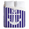 Navy Anchor Luxe Duvet Cover