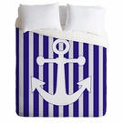 Navy Anchor Duvet Cover