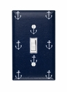 Navy Anchor Light Switch Plate Cover
