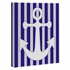 Navy Anchor Wrapped Canvas Art