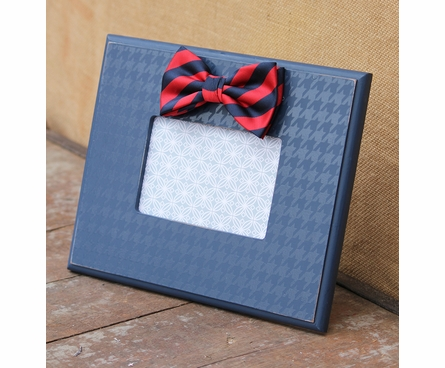 Navy Bow Tie Houndstooth Picture Frame