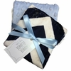 Navy Chevron Burp Cloth Set