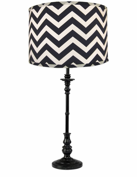 Navy Chevron Lamp Shade