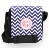 Navy Chevron Monogram Sling Bag