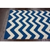Navy Chevron Rug