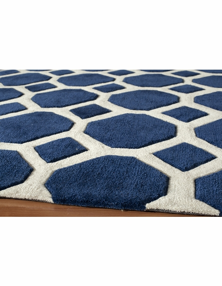 Navy Circles Bliss Rug