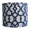 Navy Fretwork Lamp Shade