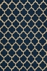 Navy Geo Lattice Rug