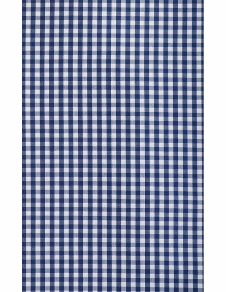 Navy Gingham Check Twin Duvet Cover