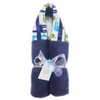Navy Giraffe Hooded Towel