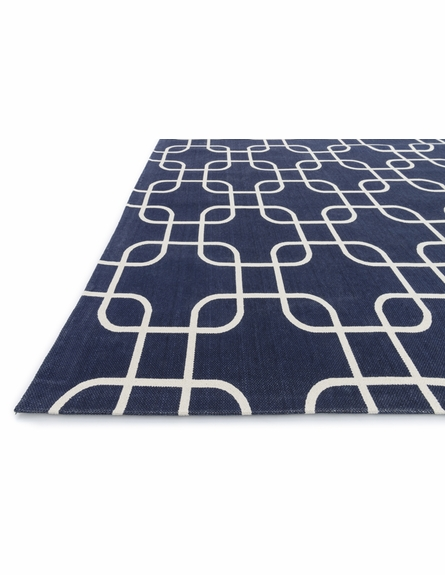 Navy Links Geo Rug