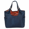 Navy Mandarin Satchel Diaper Bag