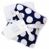Navy Mod Dot Burp Cloth