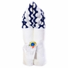 Navy Mod Dot Hooded Towel