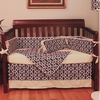 Navy Pebbles Crib Bedding