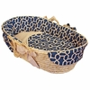 Navy Pebbles Moses Basket