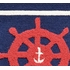 Navy Ship Wheel Rug