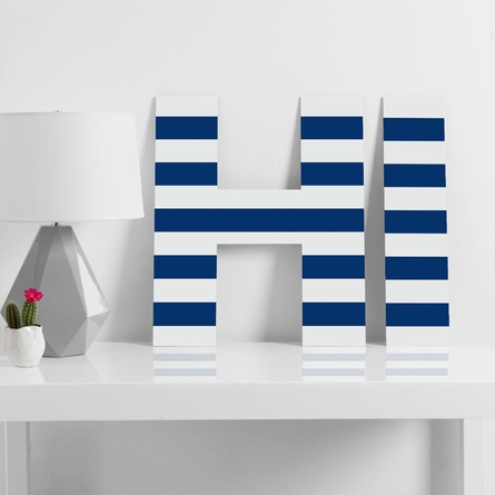 Navy Stripe Decorative Letters