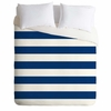 Navy Stripe Lightweight Duvet Cover
