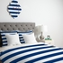 Navy Stripe Duvet Cover