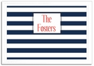 Navy Stripe Framed Magnetic Board