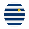 Navy Stripe Oval Magnet Board
