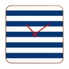 Navy Stripe Square Wall Clock