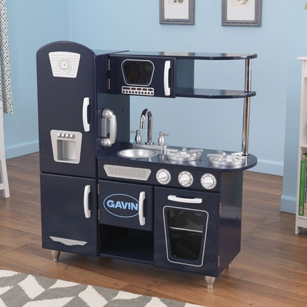 Navy Vintage Play Kitchen