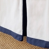Navy Windowpane Bed Skirt