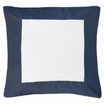 Navy Windowpane Euro Sham