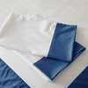 Navy Windowpane Pillowcase Set