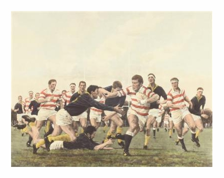 Nearly There Old English Rugby Print