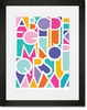 Negative Space Letters Girl Framed Art Print