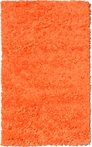 Neon Orange Shaggy Raggy Rug
