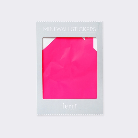 Neon Pink Mini House Wall Sticker