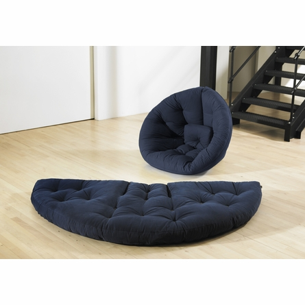 On Sale Nest Small Futon in Navy