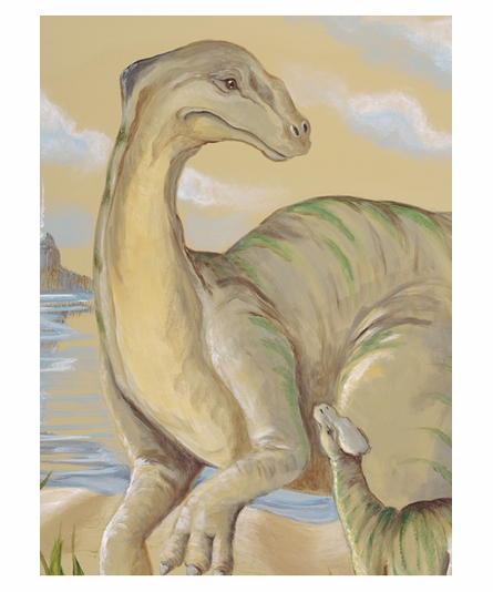 Nesting Apatosaurus Canvas Reproduction