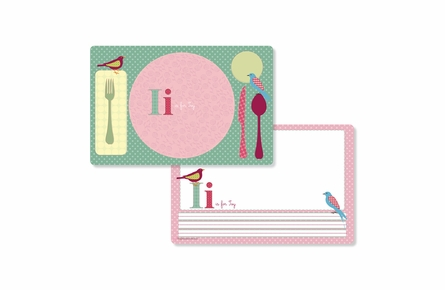 Nestling Personalized Kids Reversible Placemat