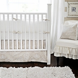 Neutral Girls Crib Bedding