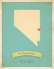 Nevada My Roots State Map Art Print - Blue