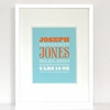 New Arrival Carnival Birth Announcement Art Print