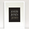 New Arrival Classic Birth Announcement Art Print